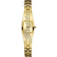 Guess Ladies' Petite Autograph Elegant Gold Plated Watch - W11136L1 - £99.35
