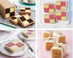 mini battenberg cakes