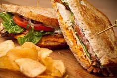 Grilled chicken sandwich.