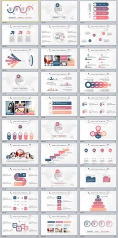 30 multicolor Business report PowerPoint templates - Powerpoint Templates - Ideas of Powerpoint Templates - 30 Annual Report PowerPoint Templates Ppt Design, Design Sites, Powerpoint Design Templates, Professional Powerpoint Templates, Design Brochure, Creative Powerpoint, Slide Design, Booklet Design, Design Layouts