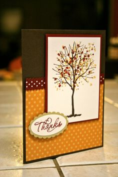 Stampin' Up Thanks Handmade Greeting card by smilewhilestampin