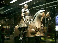Display inside the tower of London  They actually wore this into battle........