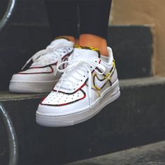 best sneakers 582e9 0f346 Nike Air Force 1 Low Tartan White University Red-Amarillo Clean White  Leather, Air