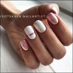 91 simple short acrylic summer nails designs for White Nail Art Ideas Nail Art Stripes, Striped Nails, White Nail Art, White Nails, Stylish Nails, Trendy Nails, Nail Manicure, Gel Nails, Pedicure