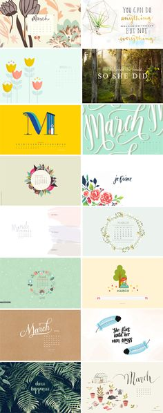 // On the Blog: March 2015 Wallpapers Round-up