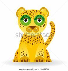 Funny jaguar on white background. by EkaterinaP, via Shutterstock
