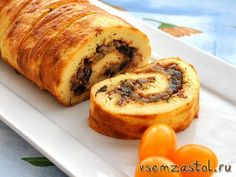 Вкуснейший рулет из заварного теста Appetizer Recipes, Appetizers, Russian Recipes, Baked Goods, Tart, French Toast, Sandwiches, Deserts, Food And Drink