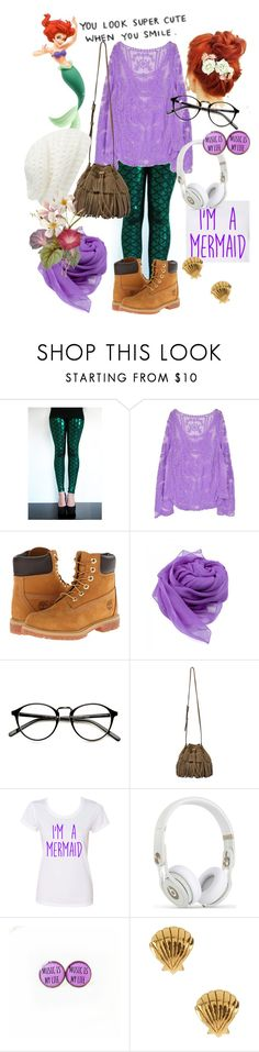 """Hipster Ariel"" by evol-love ❤ liked on Polyvore featuring Timberland, INDIE HAIR, Gérard Darel, Disney, Gorjana, Forever New and modern"