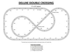 Lionel Trains 5' x 10' Double Crossing. This was one of my most fun Lionel layouts. I used 027 track to fit a smaller area.