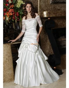 Sweep / Pinsel Zug Vom Vintage-Stil inspiriert Schnürung Brautkleider 2014