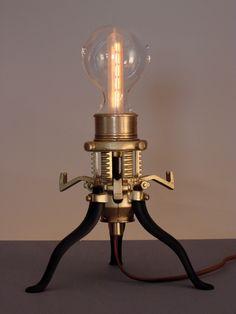 Mr. Peanutski- Steampunk Lamp
