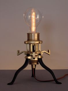 Mr. Peanutski- Steampunk Lamp