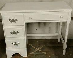 Refinished white vanity