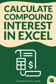 Learn how to quickly calculate compound interest in Excel. I'll show you a simple formula that you can use to calculate compound interest monthly, quarterly, yearly. I will also show you how to use the FV function in Excel to calculate the compound interest. And also created a simple Compound Interest Calculator Excel template that you can download for free Computer Shortcut Keys, Computer Basics, Microsoft Excel Formulas, Excel For Beginners, Interest Calculator, Excel Hacks, Pivot Table, Funny Videos For Kids, Debt Free