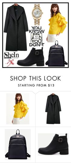 """Shein 9./7"" by b-necka ❤ liked on Polyvore featuring WithChic, Rolex, Chanel, Sheinside and shein"