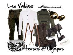 """Leo Valdez"" by fictionfreak ❤ liked on Polyvore featuring Tripp, Demonia, Retrò, women's clothing, women's fashion, women, female, woman, misses and juniors"