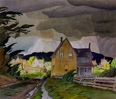 Alfred Joseph Casson - a member of the Canadian Group of Seven Tom Thomson, Landscape Illustration, Landscape Art, Illustration Art, Canadian Painters, Canadian Artists, Group Of Seven Artists, Group Of Seven Paintings, Small Paintings