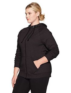 Product review for Champion Women's Plus Size Fleece Full Zip Hoodie.  - Experience incredible comfort in this plush active hoodie, When fully zipped neck is covered for extra warmth. Ideal coverage with adjustable drawstring hood, Full range of motion thanks to raglan long sleeves. Cozy, lined side pockets keep your hands warm Champion, Style Number:...