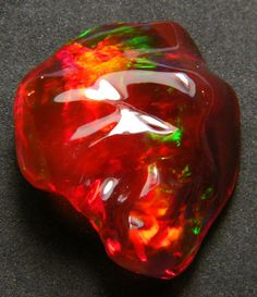 Mexican carved opal           I would call this Strawberry opal.