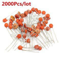 2000Pcs/lot 4mm x 3mm 50 Values 50V Ceramic Capacitor Assorted kit Assortment Set #Affiliate