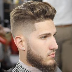 Medium Length Men's Haircut + High Skin Fade - Best Men's Hairstyles: Cool Haircuts For Men. Most Popular Short, Medium and Long Hairstyles For Guys Popular Mens Hairstyles, Cool Mens Haircuts, Stylish Haircuts, Cool Hairstyles For Men, Best Short Haircuts, Popular Haircuts, Hairstyles Haircuts, Guy Haircuts, Funky Hairstyles