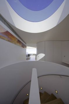 Beautiful skylight and central staircase. Bondi Penthouse, Sydney, Australia, by MPR Design Group.