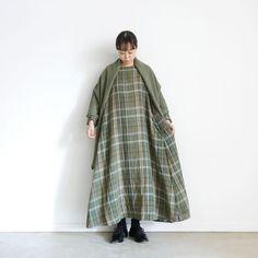 ichi 210520 Linen Check One Piece / 2 COLORS