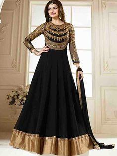 Prachi Desai Beautiful Black Net Designer Salwar Suit
