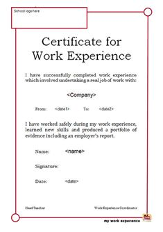 awesome collection of format of job experience certificate relevant likeness teaching fancy work experience letter format from employer