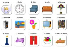 En el cuarto de estar (vocabulario) - Spanish vocabulary of living room