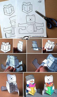 Maci hóember papír ajándék
