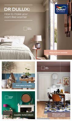 Dulux Paint Colours Neutral, Warm Paint Colors, Color Inspiration, Interior Inspiration, Home Wall Colour, Warm Color Schemes, Cosy Interior, Inviting Home, London Apartment