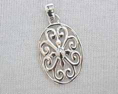 Southern Gates Oval Heart Scroll Pendant (DER P204)  #southerngates  #rickterryjewelry #knoxville
