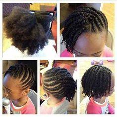 Tresses enfants Tresses Cheveux Crépus, Coiffure Cheveux Crépus, Coiffure  Afro, Tresses Enfants,