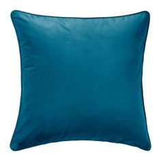 IKEA - SANELA, Cushion cover, dark turquoise, Cotton velvet gives depth to the color and is soft to the touch. The zipper makes the cover easy to remove. At Home Furniture Store, Modern Home Furniture, Cushion Covers, Throw Pillow Covers, Throw Pillows, Cushion Pads, Moroccan Decor Living Room, Living Room Decor, Casa Loft