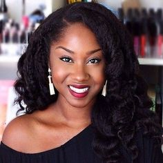 Kinky Straight Realness: 10 Of Our Favorite Looks (And How To Recreate Them! African Braids Hairstyles, Curled Hairstyles, Weave Hairstyles, Straight Hairstyles, Wedding Hairstyles, Natural Hair Weaves, Natural Hair Styles, Kinky Straight Weave, Black Women Hairstyles