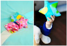 Folding wrapping paper stars with goodies inside - includes how-to video