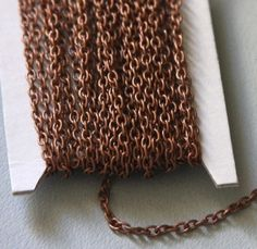 US $21.95 - 90 ft of Antiqued copper round cable chain 2.6X3.9mm Unsoldered- open links chain from seller YadanaBeads on Etsy