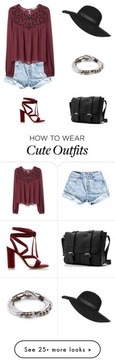 """""""Cute outfit"""" by snhollick on Polyvore featuring MANGO, Gianvito Rossi, Topshop, Lizzy James, women's clothing, women, female, woman, misses and juniors"""