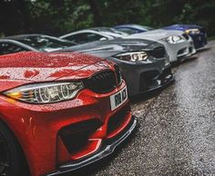 BMW F82 M4 red grey white blue
