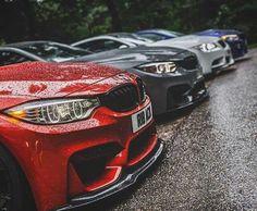 BMW F82 M4 red grey white blue