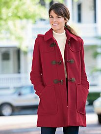 Wool Toggle Coat   APPLESEEDS