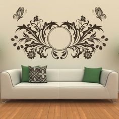butterfly design floral circle wall art sticker butterfly wall stickers animals