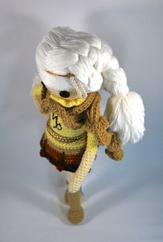 CAPRICORN ZODIAC Crochet Art Doll.  doll hairstyle. She is handmade in free form and originally designed by me. OOAK. She may now be viewed in my Etsy Shop - CreativeChaosMNL