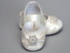Baby Girl Shoe Caroline Wedding Flower Girl by Pink2Blue on Etsy, $40.00