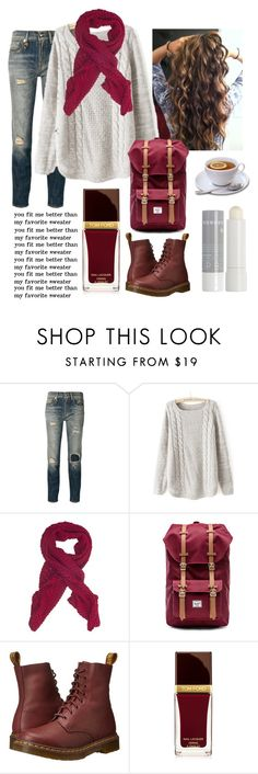 """Untitled #239"" by a-dance02 ❤ liked on Polyvore featuring R13, French Connection, Herschel Supply Co., Dr. Martens, Tom Ford and Korres"