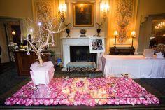 Beautiful decor at Spindletop Hall venue!   Photo by: Adam Padgett Weddings.     #ptopofthebluegrass #ptopweddings2016 #weddingreception #weddingceremony #weddingflowers #weddingflowerpetals #weddingdecor #weddingvenues #weddingplanner