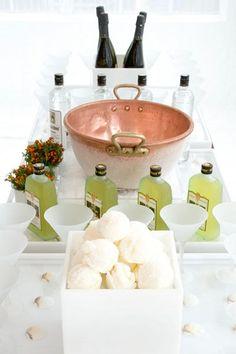 Sgroppino- limoncello, vanilla ice cream, champagne