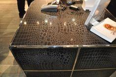 by Ventana Construction LLC--laser cut caesarstone Kitchen Countertop Materials, Kitchen Countertops, Custom Home Builders, Custom Homes, Ping Pong Table, New Builds, Kitchen And Bath, Construction, Solid Surface