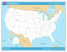 unlabeled map of us so students can label states and capitals - State Printables
